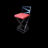 Полубарный стул Лофт с мягким сиденьем