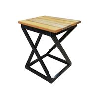 Табурет Лофт с деревянным сиденьем